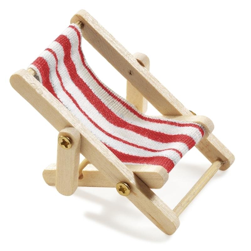 Miniatur Liegestuhl Basteln.Mini Liegestuhl 5 X 3 5 Cm Rot Weiss
