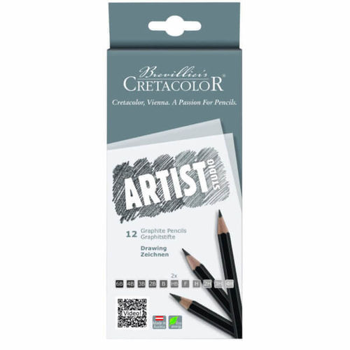 CRETACOLOR Studio Graphitstifte DRAWING, 12er Set